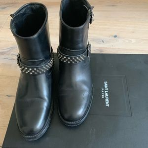 Saint Laurent Moto Boot